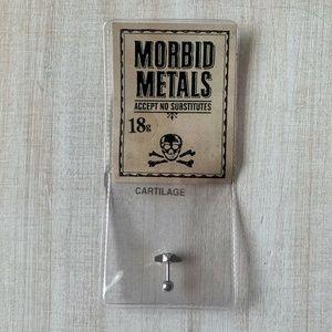 Morbid Metals AB Gems Star Cartilage Stud Earring